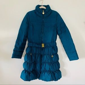Betsey Johnson | Quilted Belted Long Puffer Coat